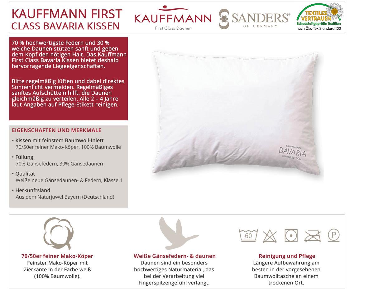 Kauffmann-Sanders-First-Class-Bavaria-Daunenkissen-online-kaufen
