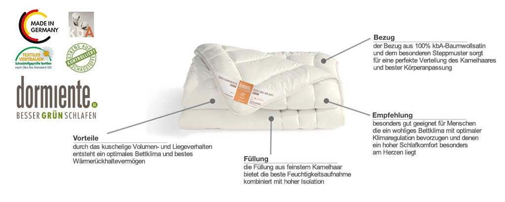 Dormiente-Luxor-Deluxe-Kamelflaumhaar-Duo-Decke-Produktmerkmale-und-Details