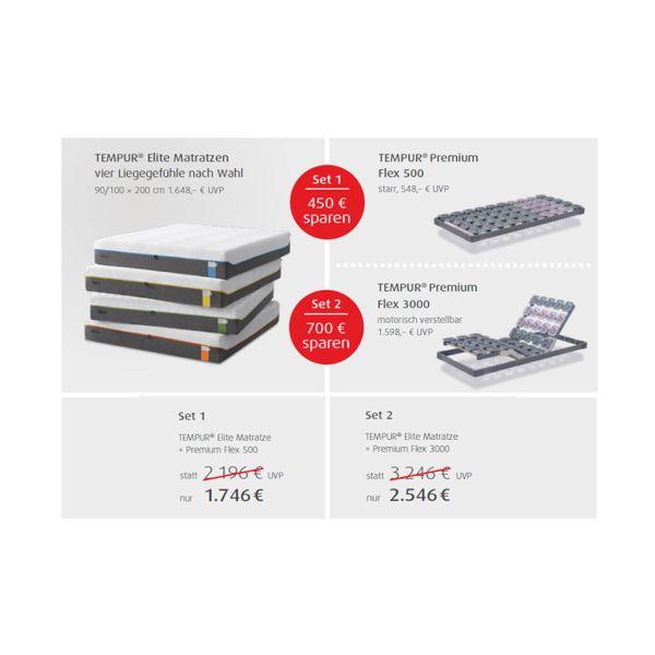 6d3585c1671423 Set  Tempur Sensation Elite 25 und Premium Flex 500