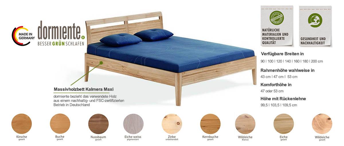 Dormiente-Massivholzbett-Kalmera-Maxi-Produktmerkmale