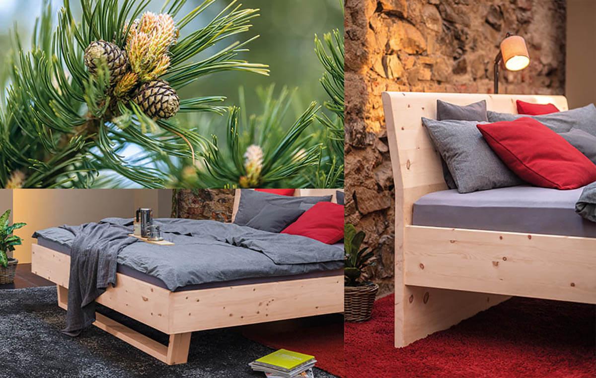 Dormiente-Massivholzbett-Pinar-Zirbenholzbett