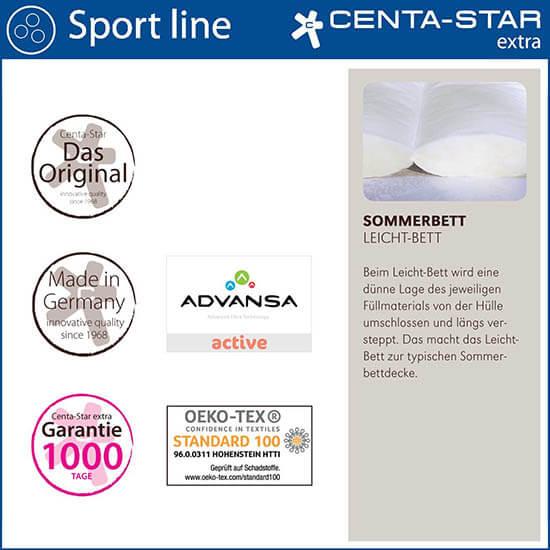 Centa-Star-Sport-Line-Sommerbett-leicht-Bett-Qualitaetsmerkmale
