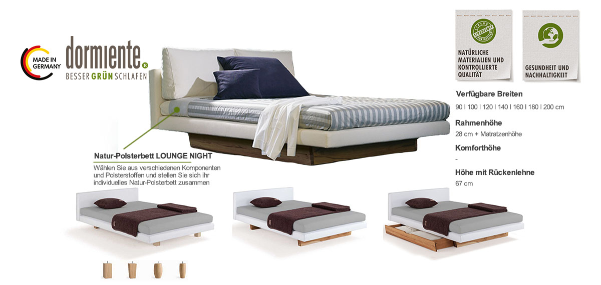 Dormiente-Natur-Boxspringbett-LOUNGE-NIGHT-Produktmerkmale