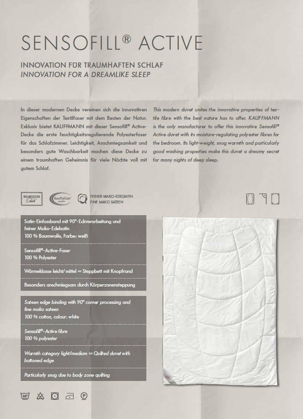 Kauffmann-Sensofill-Decke-Produktmerkmale