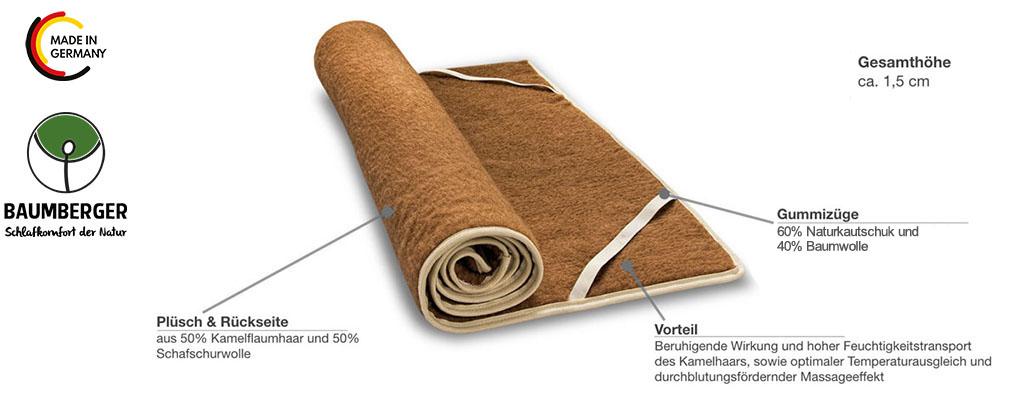Baumberger-Kamel-Plueschunterbett-Produktmerkmale-Details