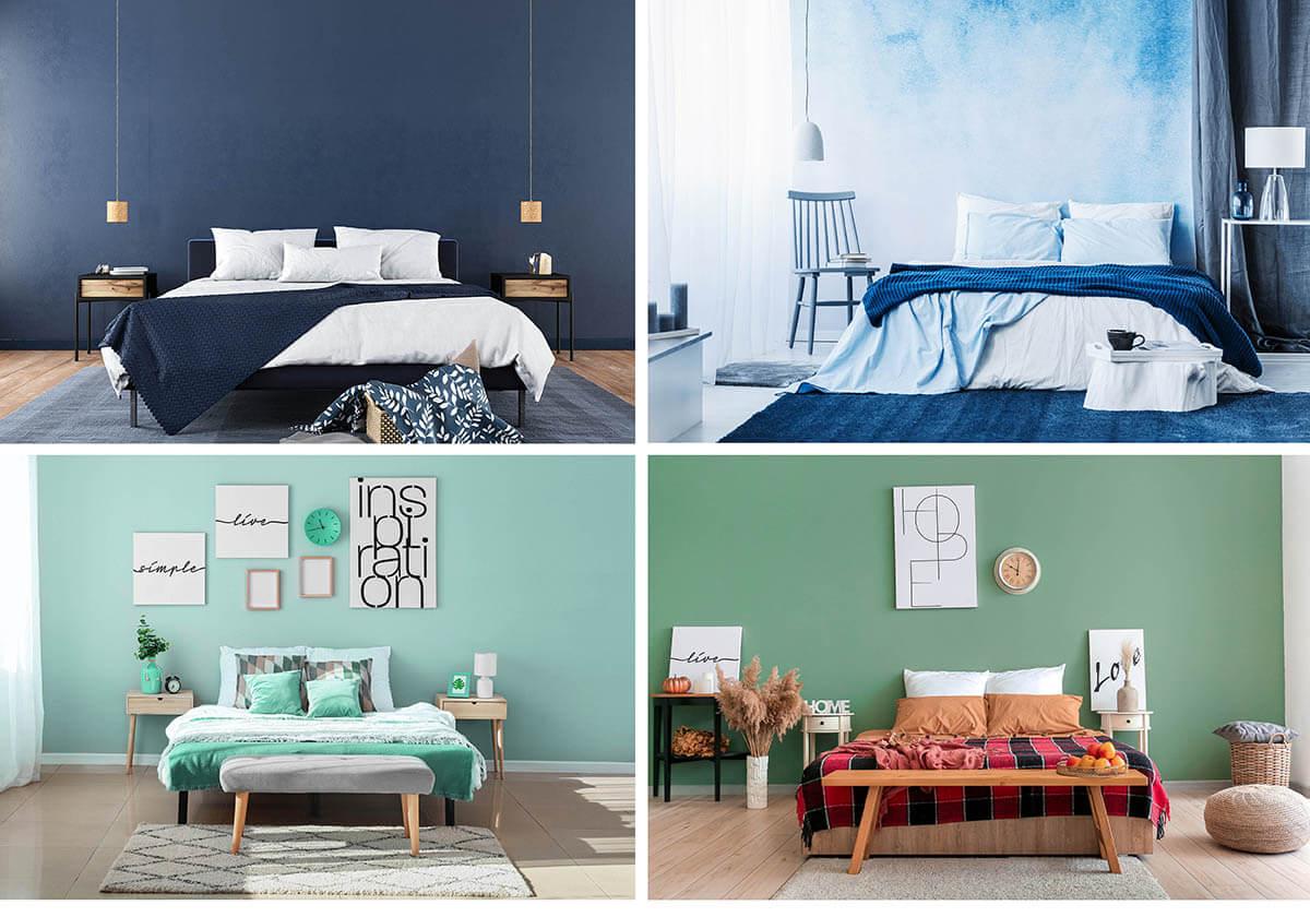 Schlafzimmer-Farben-2020-Pastelltoene-Gruen-und-Blau