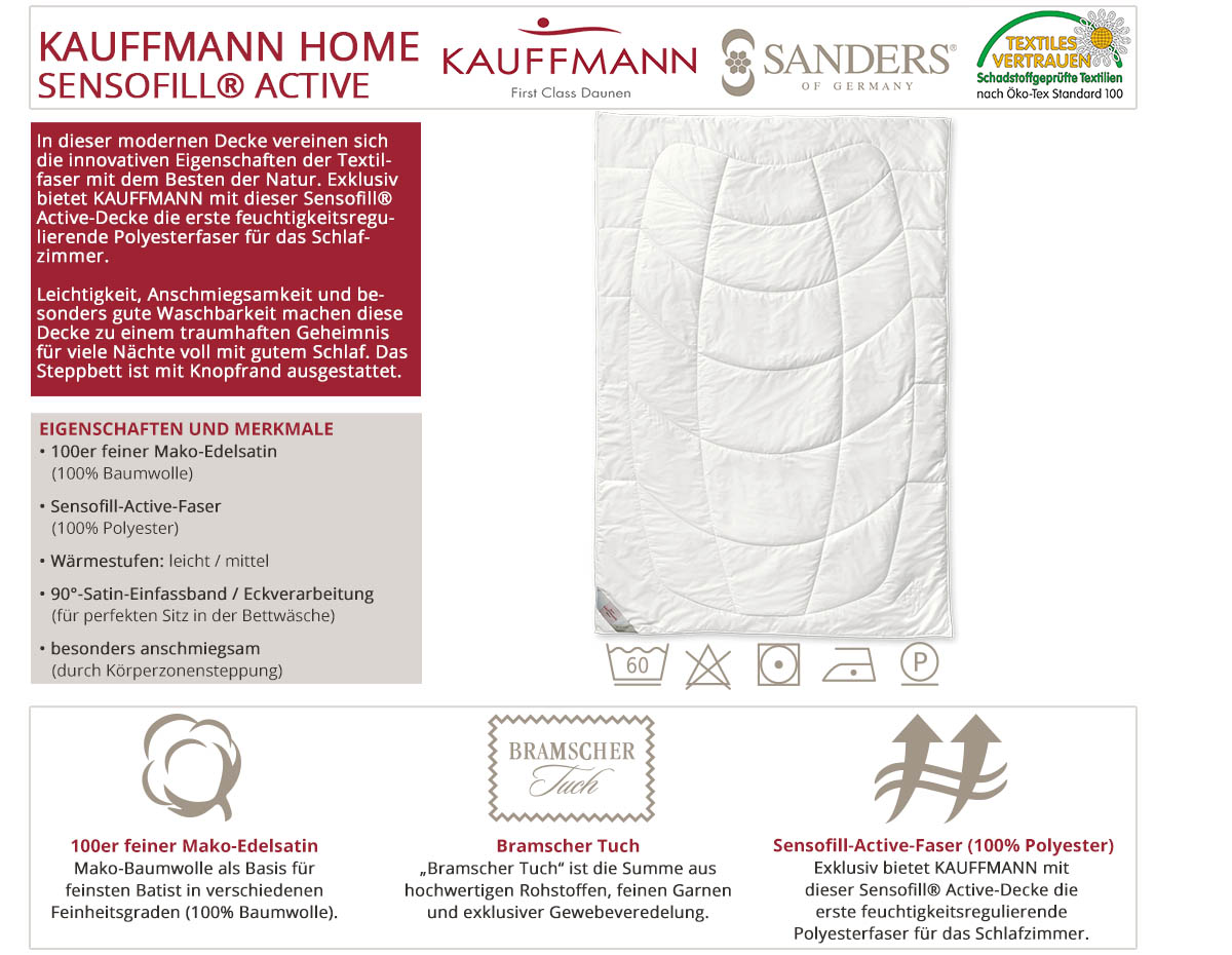 Kauffmann-Sanders-Key-Performers-Sensofill-Active-Decke-online-kaufen