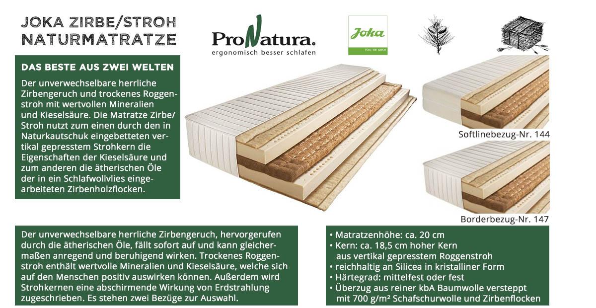 ProNatura-Joka-Naturmatratze-Zirbe-Stroh-online-kaufen