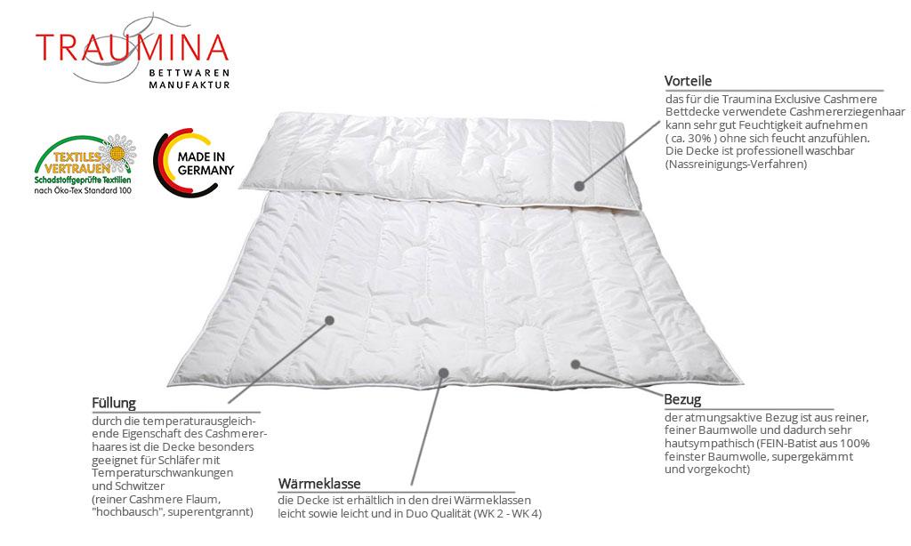 Traumina-Exclusive-Cashmere-Bettdecke-Produktmerkmale