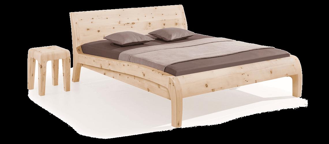 Dormiente-Massivholzbett-Beluga-Zirbenholz