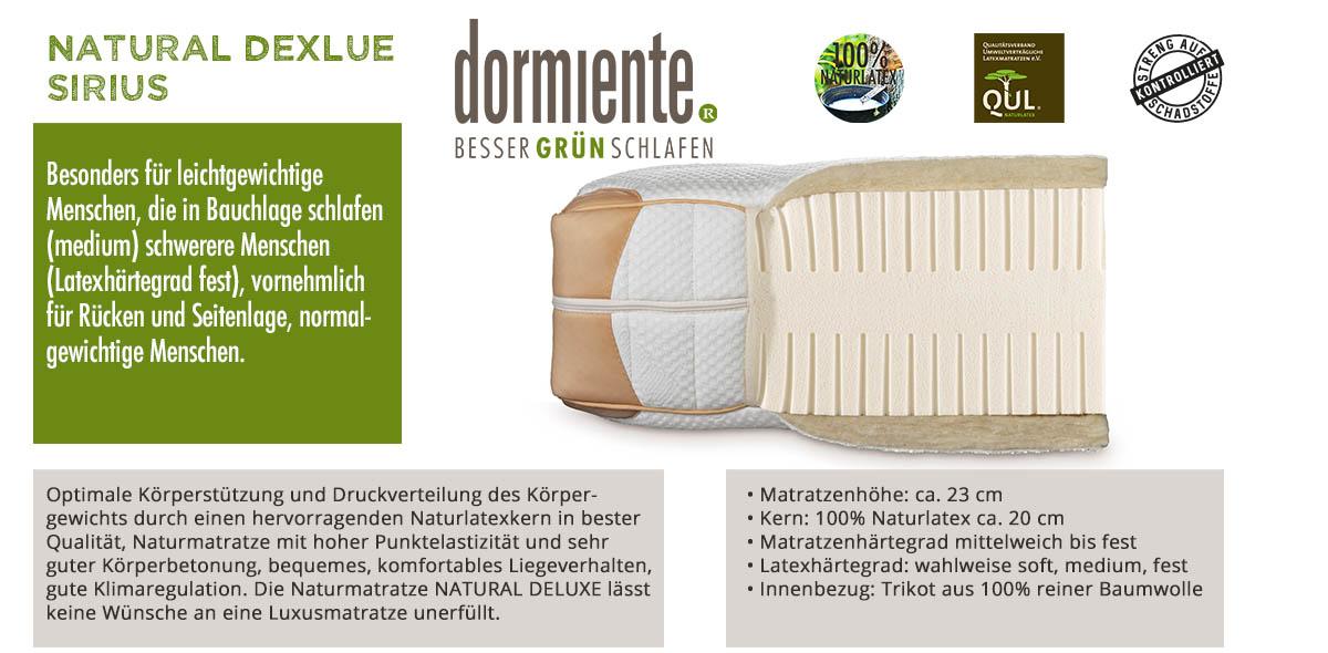 Dormiente-Natural-Deluxe-Sirius-online-bestellen