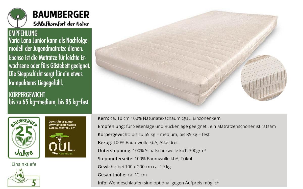 Baumberger-Varia-Lana-Junior-Naturlatexmatratze-online-kaufen