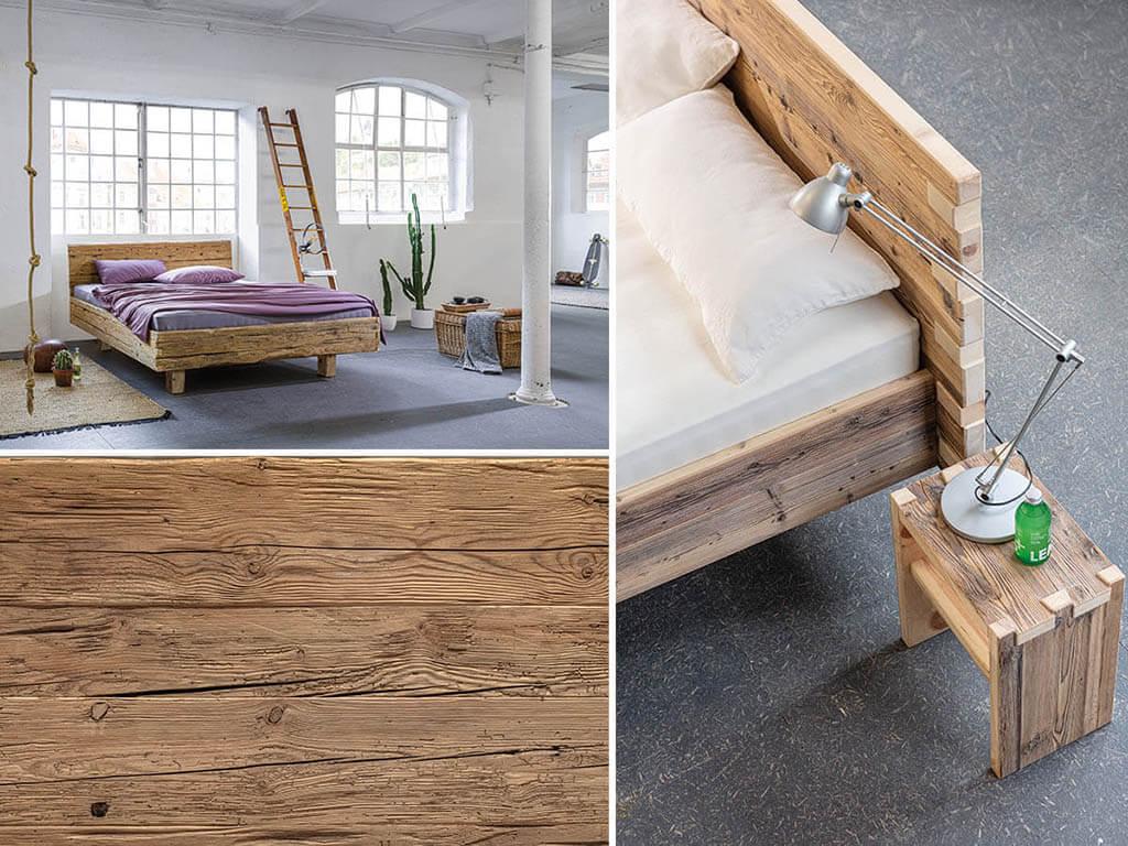 Schlafzimmer-Trends-2021-Schlafgesundheit-Nachhaltigkeit-dormiente-Veteris-Altholzbett